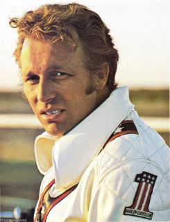Evel Knievel Motorcycle Daredevil Legend in his Leathers Portrait