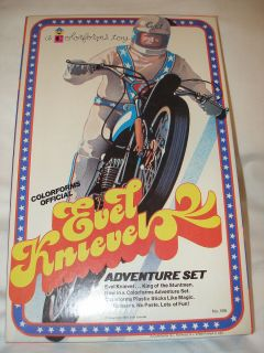 Evel Knievel Coloforms 1974 Old Store New Stock Vtg