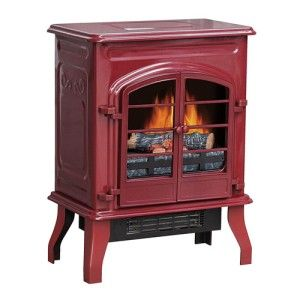Cranberry Antique Electric Stove Fireplace Fire Place Heater