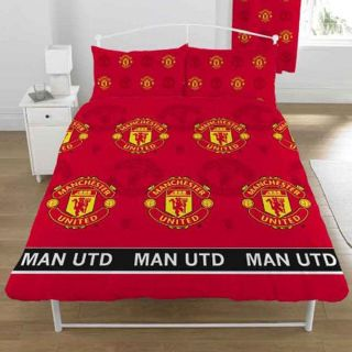 Manchester United Red Devils Double Duvet Cover New Man UTD Free P P