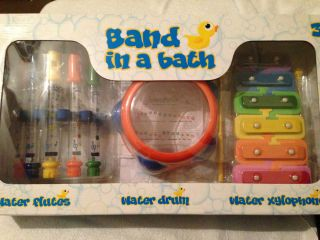 Bath  Kids Musical Instruments Bath Toy Includes Drum Flutes Xylophone