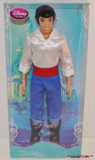New  Prince Eric Ariel Little Mermaid Doll