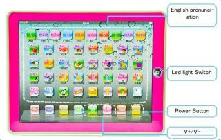 Pink Baby Child ABC Y Pad English Learning Machine Toys Tablet for