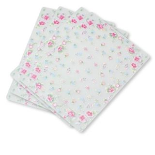 Pfaltzgraff Tea Rose Frosted Vinyl Placemats Set of 4
