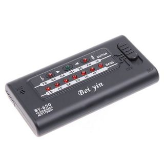 Digital LED Electronic Automatic Tuner for Guitar Bass Black New