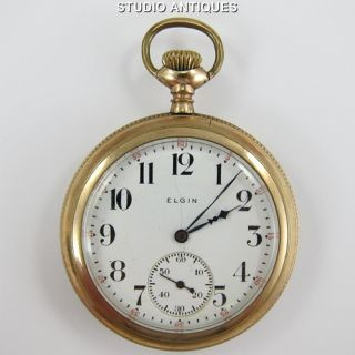 Elgin Pocket Watch Antique 17J Grade 345 12S 3 4 Plate Philadelphia