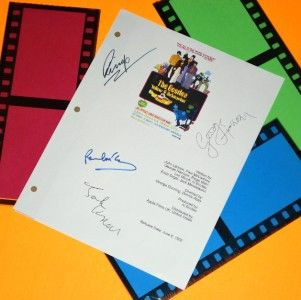 YELLOW SUBMARINE THE BEATLES SIGNED SCRIPT RPT JOHN LENNON, GEORGE