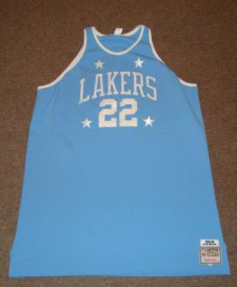 RARE ELGIN BAYLOR LOS ANGELES LAKERS NBA MITCHELL NESS SEWN JERSEY