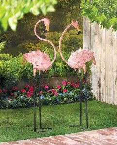 Tall Life Size Pink Flamingo Lawn Stakes Garden Yard Statue Animal