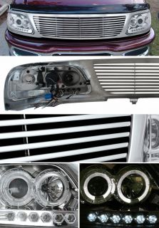 1997 1998 FORD F 150/EXPEDITION CHROME GRILLE+HALO PROJECTOR