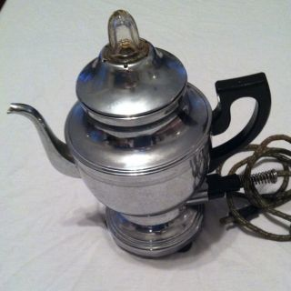 Vintage FARBERWARE Electric Percolator Automatic Coffee Maker Pot
