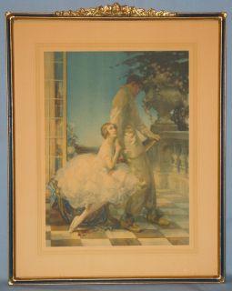 Color Print British Artist w E Webster Ballerina Series 1900 20