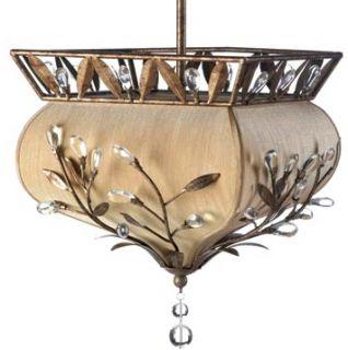 european chic palace jewel pendant gold fabric shade chandelier light