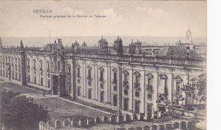 Sevilla Spain Fachada Principal Fabrica Tabaco Postcard