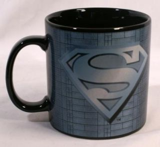 DC Comics Superman Extra Large Coffee Mug Cup Futuristic Steel Grey