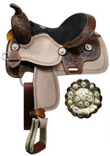 Western Youth Pleasure / Trail Saddle NEW by TT in DARK OIL Horse Tack