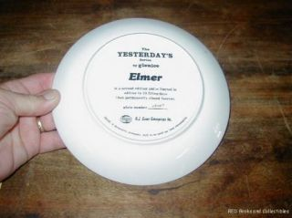 Ernst The Yesterdays Series by Glenice Elmer Plate