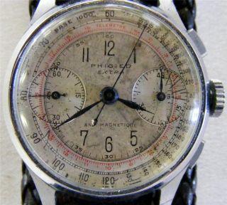 Vintage WWII Era 1940s Phigied Extra Pilots Watch Avaitors