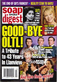 One Life to Live Soap Opera Digest Goodbye Oltl Tribute Special