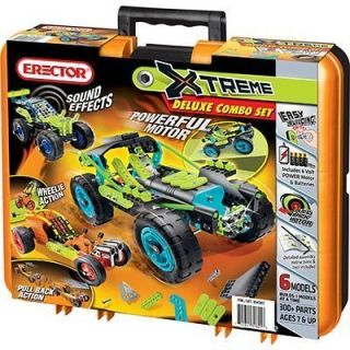 Erector ♥ Extreme Deluxe Combo Set 300 Plastic Metal Parts 6 Xtreme