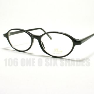 Small Size Oval Shaped Eyeglass Frame Optical Glasses Black