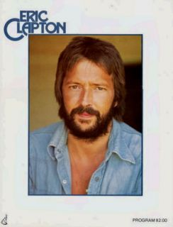 guaranteed authentic this is an original program from eric clapton