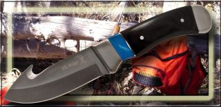 Elk Ridge Knives Gut Hook Hunting Skinning Knife Turquoise Wood Handle