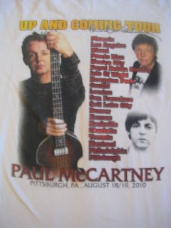 2010 Paul McCartney Beatles England Rock Band Tour Shirt Pittsburgh PA
