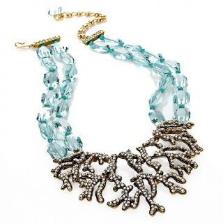 Heidi Daus Crystal Reef Coral Design Drop Necklace