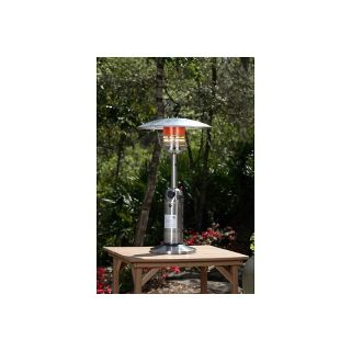 110 4166 well traveled living table top patio heater stainless steel