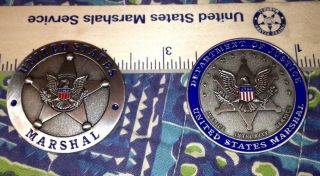 USMS Marshal Service Challenge Coin 220th Anniversary Coin Silver US