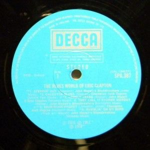 The Blues World of Eric Clapton (1975) Vinyl LP ~ VG++ (EX) Decca SPA