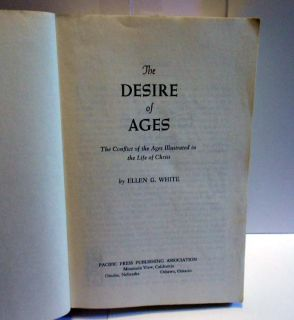 Vintage Ellen G White Book 1940 The Desire of Ages Pacific Press SC VG