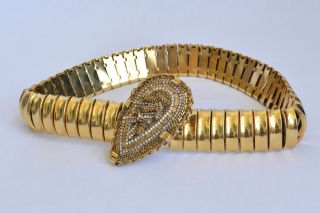 Erickson Beamon Gold Chain Link Gorgeous Statement Belt Jewelry Large