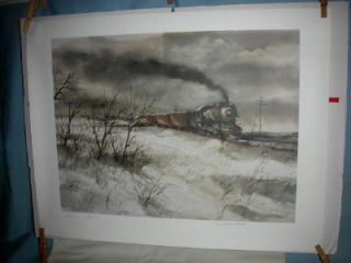 robert fabe old 97 train print unframed signed print