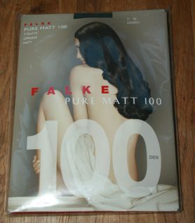 Luxury Falke Sheer to Waist Pure Matt Opaque 100 D Tights Pantyhose