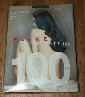 Luxury Falke Sheer to Waist Pure Matt Opaque 100 D Tights Pantyhose
