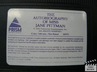 Autobiography of Miss Jane Pittman VHS Cicely Tyson 086625950708