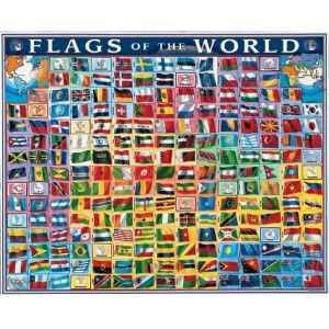 Flags of The World 1000 Piece Jigsaw Puzzle Brand New