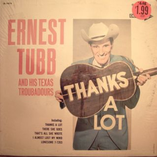 Ernest Tubb Thanks A Lot LP Original Decca DL 74514 VG Shrink Wrap