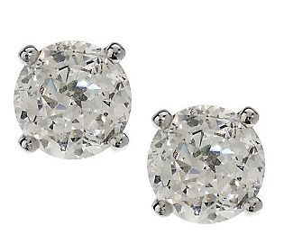 Diamonique 100 Facet 2 Ct Earrings Fashion Jewelry Christmas Gift NEW