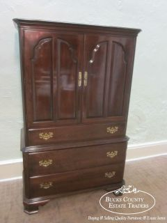 Ethan Allen Georgian Court Solid Cherry Armoire