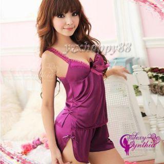 Sexy lingerie purple women Underwear intimates sleep xs s w871 free