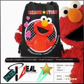 Elmo Sesame Street Drawstring Backpack Travel Bag BK