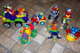 Lot of Sesame Street Cars Elmo Ernie Diego Goofy TV Character Vehicles