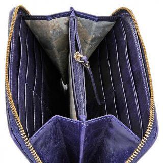 Elliott Lucca Rioja Pleated Leather Zip Top Wallet