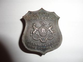 Obsolete Pennsylvania Game Commission Deputy Game Protector Badge
