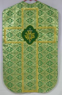 above front rear design on the chasuble with gold silver handwork