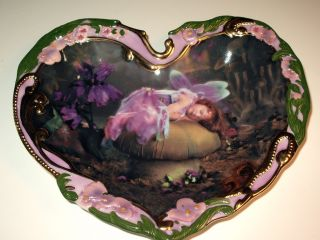 Purple Fairy Collector Plate New Sweet Dreams by Lisa Jane The