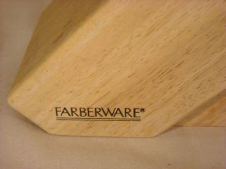 12 pc farberware culery w seak knives wood block